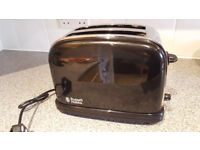 Russell Hobbs Colours 2-Slice Toaster - Black