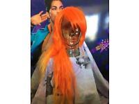 Orange yellows flame wig new