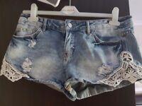 Size 12 womens denim shorts