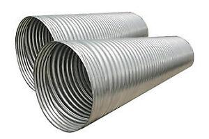 """12"""" galvanized or plastic culvert pipe"""