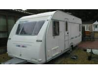 2005 adria adora 532 up 4 berth fixed bed with full dorema awning and motor mover v g c