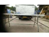 Strong folding table 182x76 cm