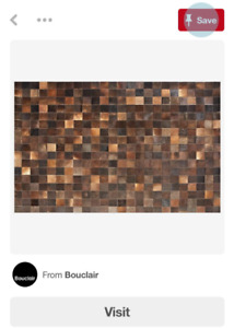 Brand New Genuine Cowhide Leather Patch Rug