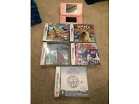 Nintendo pink Ds Lite and games