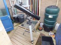helios telescope with tripod and drive motor