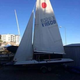 Fireball sailing boat