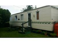 Large 4 berth caravan to rent. Available carnival week
