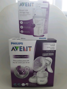 Philips Avent Manual Breast Pump & Storage Bags