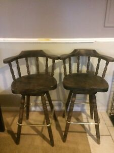 Rustic Solid Wood Bar Stools $50 OBO