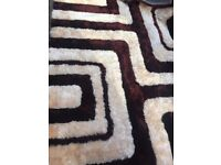 Excellent condition, large, brown and cream rug, only £30