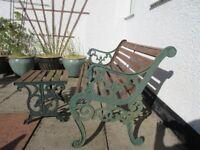 Garden Bench Seat & Table