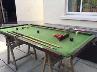 Junior size snooker equipment