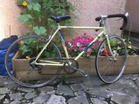 Vintage Raleigh racer yellow road bike bicycle