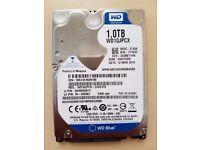 """WD 2.5"""" 1TB SATA 5400RPM Notebook Hard Drive, WD10JPVX"""