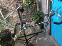 Vintage steel frame bike frame and forks Reynolds 531 Claud butler