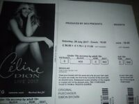 Celine Dion Tickets. 2 tickets for Celine Dion live at the London O2 on Saturday 29th July.