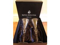 ROYAL DOULTON WINE GLASSES X 4