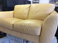 Small 2 seater sofa in leather 5ft, £30