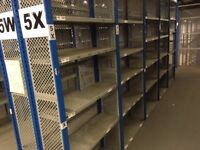 15 bays DEXION impex industrial shelving 2.4M HIGH ( storage , pallet racking )