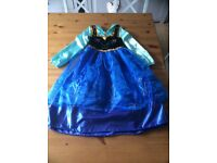 Genuine Disney Frozen Anna Dress size 7-8 immaculate condition