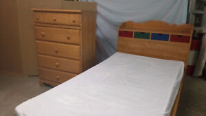 2 sets of mates beds and dressers