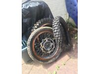 Supermoto pulse adrenaline 125 wheels and tyres