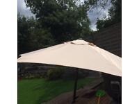 Patio parasol 2m diameter approx