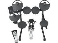 Yamaha DTX400K electronic drum kit in good working order.