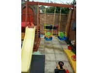 Slide and swing set