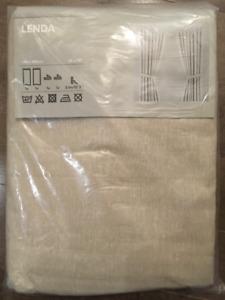 IKEA LENDA Curtains - 300cm beige