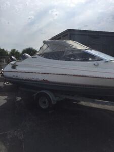 **1990 18FT BAYLINER CAPRI WITH 2003 90HP 4 STROKE YAMAHA**