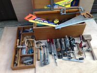 A Chest full of Joinery and Carpentry Tools