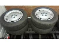 Jaguar xj6 alloy wheels with good tyres £150