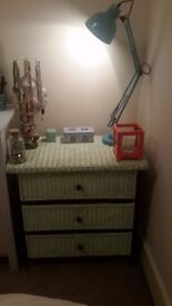 Pastel Mint Green 3 Draw Chest of Drawers