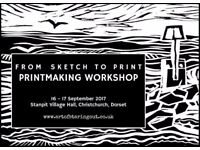 Sketch/Printmaking Workshop for beginners,learning the basics of sketching and printmaking .