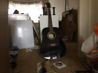 Guitar very clean with case and cd and book