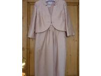 Stunning pink Hobbs occasion wedding outfit: dress/jacket/bolero size 10