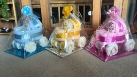 Nappy buggy /baby shower gift/ new parent /nappy cake