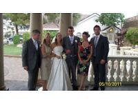 Beautiful Justine Alexandra full length wedding dress