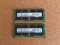 Samsung DDR3L 16GB kit (2 x 8GB) SODIMM 1600mhz PC3L-12800 1.35v M471B1G73QH0-YK0