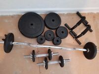 A selection of York Metal Weight Plates & Fitness Bars - at a giveaway price!