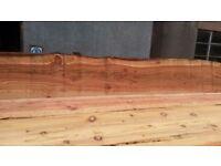 Waney edge boards -8ft --cladding --animal shelters - sheds