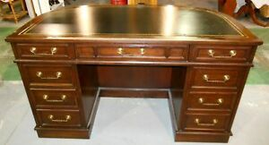 GORGOUS VINTAGE CURVED WALNUT DESK W/ BUILT IN BOOKCASE