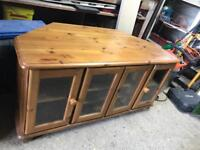 Solid pine tv unit/display cabinet