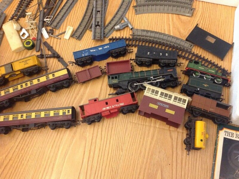 Rare collectable mainline railways palitoy tri ang trains track set bundle joblotin Cyncoed, CardiffGumtree - Rare collectable mainline railways palitoy tri ang trains track set bundle joblot A huge collectable lotSold as seen Very old bundle Different types of trains includedPlease see pictures for all items included