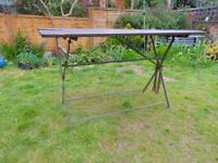 Vintage Folding Metal / Wood Garden Table for upcycling Beer French Style Retro