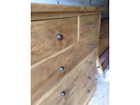 INDIGO Furniture - LARGE Chest of Drawers - Wideboy Draws pine - *Del may be poss*