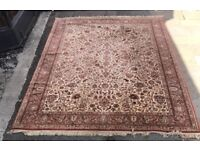 100% Pure New Wool Hand Knotted Rug- Made In Belgium