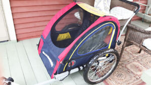 Child carriage for bicycle
