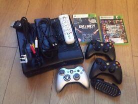 Xbox 360 Slim console Bundle 320GB in Matte Black